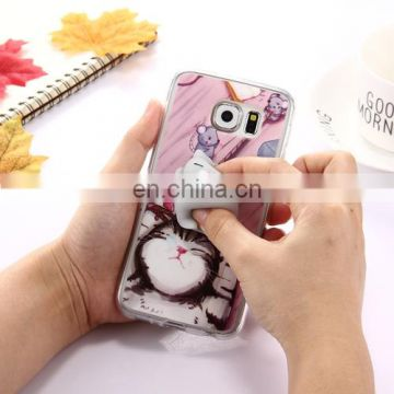 For S6 / G920 Lovely 3D Cartoon Squeeze Squishy Dropproof Protective Back Cover Case