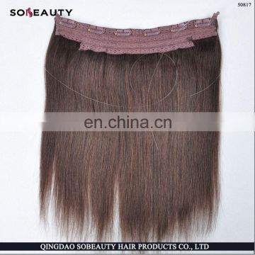 Halo hair extension,the softest factory price peruvian wet and wavy hair