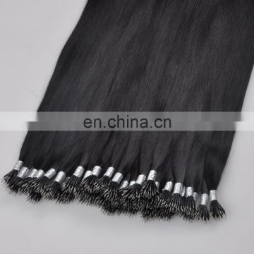 New Arrival alibaba certified Italian glue remy virgin wholesale double drawn nano ring Russian cheap hair extension