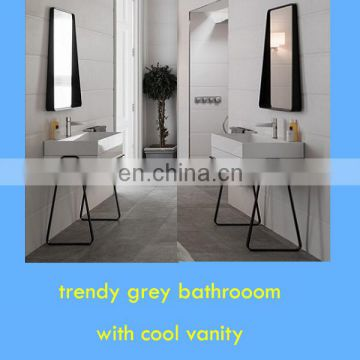 2018 amazing metal vanity base for grey bathroon design