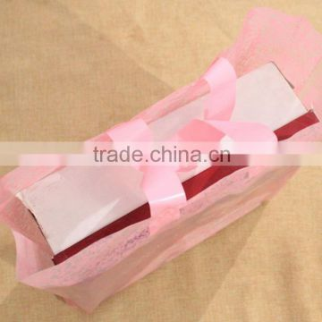 Manufacture of China portable side gusset bag for packaging shoes box with handling/ hand handle plastic bag for carry shoes