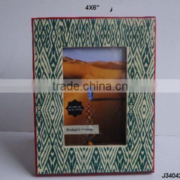 Printed photo frame in blue colour with red bone border available in all sizes