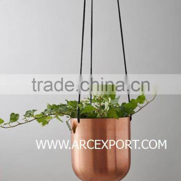 copper plated hanging planter