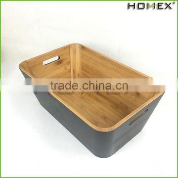 Bamboo daily use kitchen storage box Homex BSCI/Factory