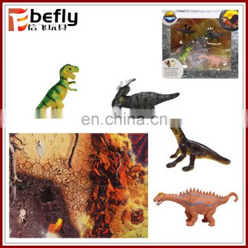 Kids play model set small plastic dinosaur toy with puzzle
