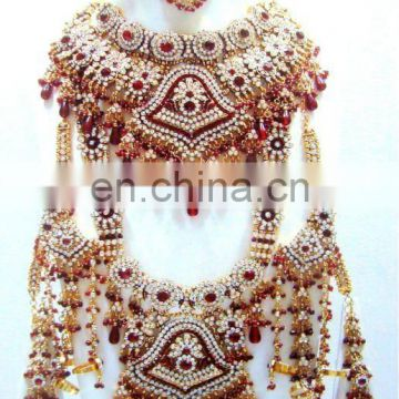 Wholesale Indian Bridal jewelry set - Indian pear Bridal Jewelry sets- rajasthani jewelry sets Bollywood style jewelry
