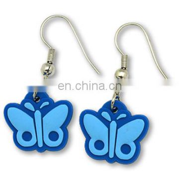 Wholesale soft pvc fashion earrings without ear muff