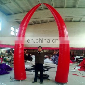 multi-color inflatable wedding horn decoration