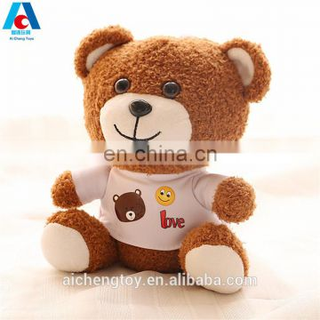 soft plush dressing clothes brown teddy bear toy to baby best gifts