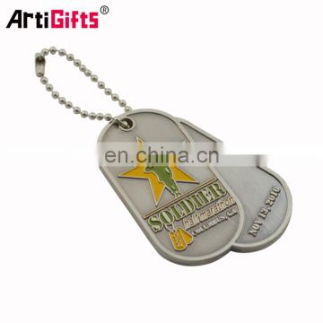 Made in china factory cheap dog tag stamping blank logo