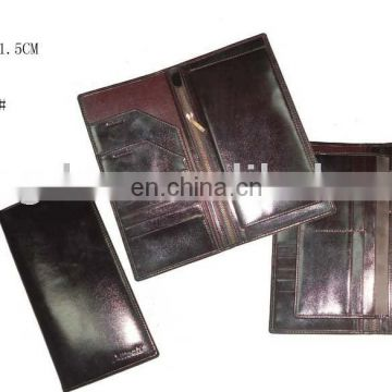 Promotional Factory Price Custom Leather Travel Passport Wallet