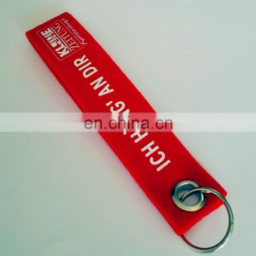 felt fabric promotion printing key ring ring or band