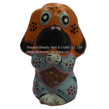 Chinese handcrafts Prosperous Wealth Dog with Business Gift or Home Adornment