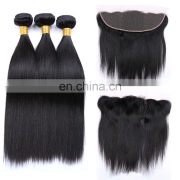 cheap human hair bundles with lace frontal