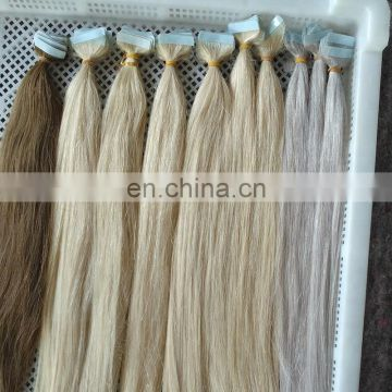 Wholesale Natural Looking 100% High Grade Raw Virgin Full Cuticle Remy Cuticle Aligned Human Hair Extensions Tape In