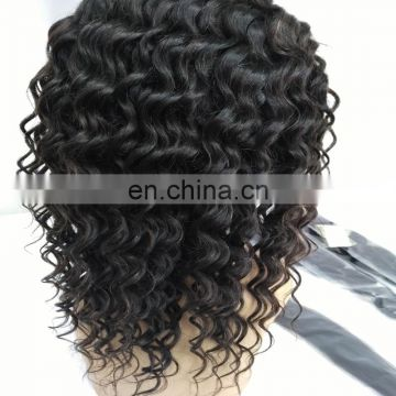 Top quality full lace human hair wigs cheap price natural indian hair wigs loose wave for black woman