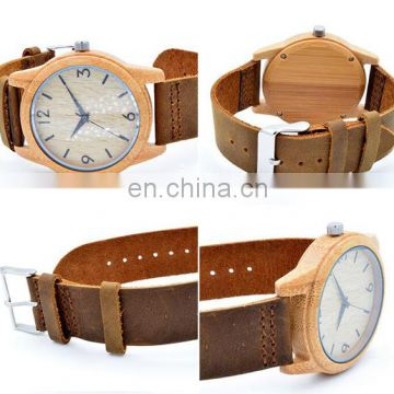 China alibaba genuine leather watch mens watch wholesale wood watch