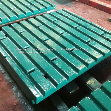 parts spares movable jaw plate of high manganese steel suit C125 metso nordberg jaw crusher
