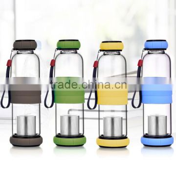 WB-S100 Premium Quality Reusable Glass Tea / Fruit Infuser Bottle