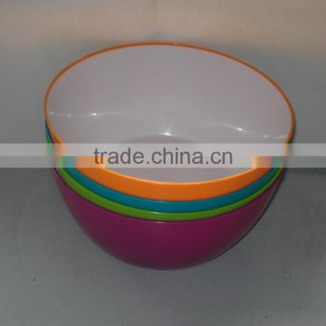Plastic colored salad bowl plastic cereal bowls