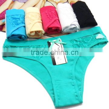 Sexy Hot Teen Girls Briefs Breathable Cotton Lady Panties Solid Colors Underwear