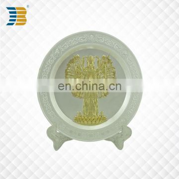 custom zinc palting souvenir plate engraved with thousand hands