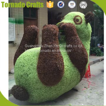 fake artificial animal topiary, deco grass cutter animal, ornamental artificial lawn animals