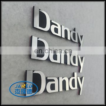 metal personalized company name label badge