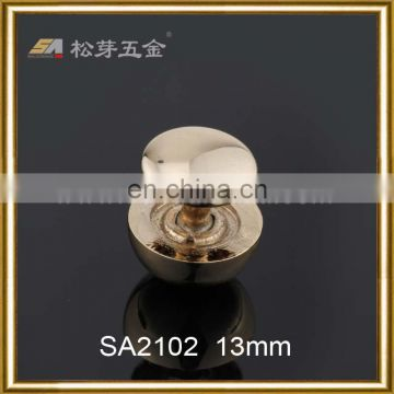 Light gold color rivet- customized screw rivet for bag