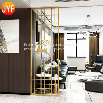 JYFQ0161 Customized interior decoration laser cut metal screen room divider for sale