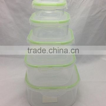 5 pcs one set of CCFC-P003 Plastic Take away Storage food container Microwave food container airtight food container