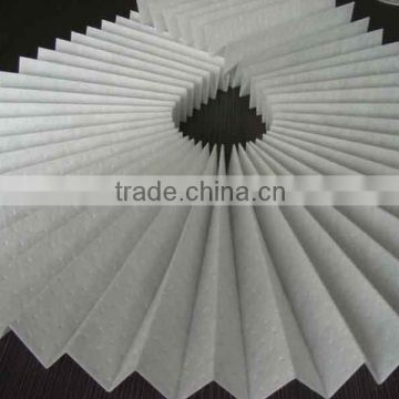 Nano silver spray anti-bacterial nonwoven textile air filter media