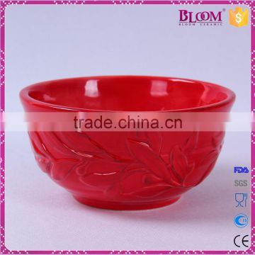 ceramic red glazed wedding gift decorative bowls