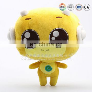 Large head big eye enterprise promotional yellow baby doll toy