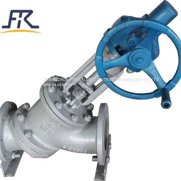 Manual Operation Y Type Slurry Valve for Alumina slurry