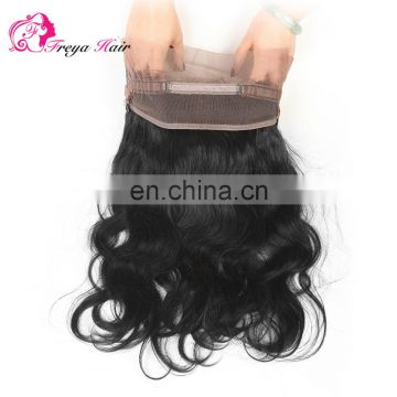 Alibaba hot selling large stock wholsale body wave 360 lace frontal