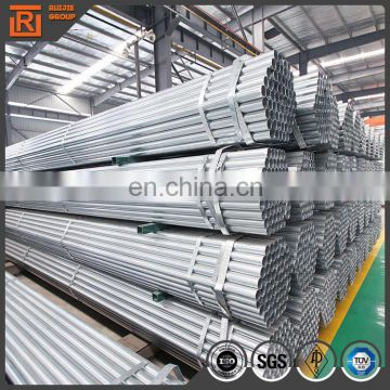 1.5 inch galvanized pipe hot dip galvanized steel pipes 0.8mm- 3mm thick welded pipe for construct use