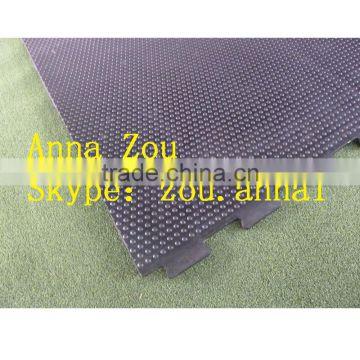 Coiled Interlocking Anti Slip Rubber Mat Horse Stall Mats