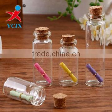 Mini Glass Bottle with Cork lid / Glass Message Jars