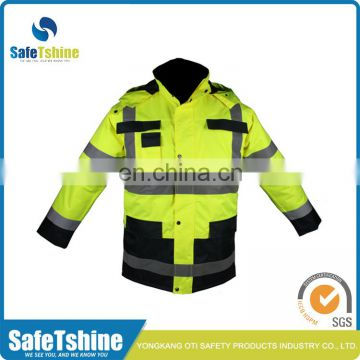 Latest design superior quality reflective fluorescent high visibility safety jacket