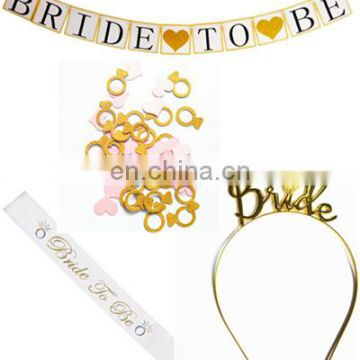 bridal shower decoration gold color bachelorette party supplies