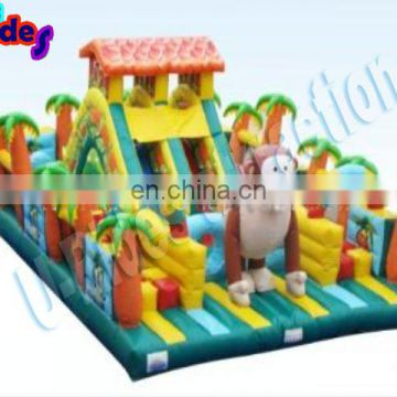 inflatable jump with playground castle