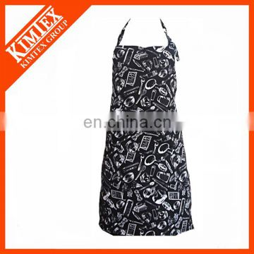 Pomotion cheap cotton silk screen printed aprons