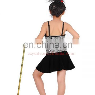 Lovely glitter black children jazz dance dress ET-019#