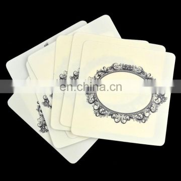 high quality printed pp plastic beer coaster