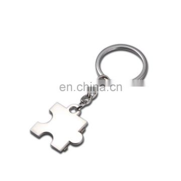 couple design heart shape metal lover keychain