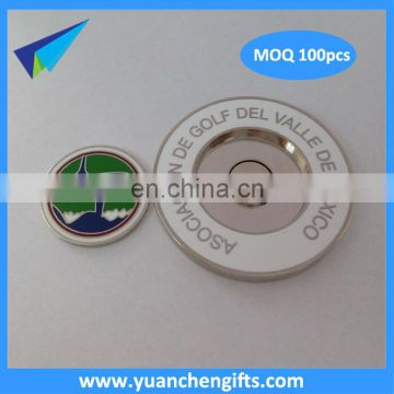 Unique design metal magnetic ball markers with 4.3mm thickness