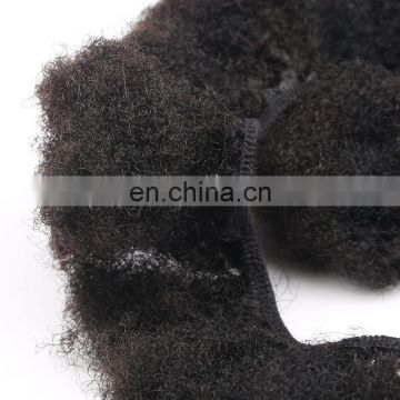 Yotchoi Cheap Real Can Be Dyed/Bleached Afro Kinky Curl Virgin Brazilian Human Hair Weave Wholesale