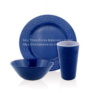 Hot selling 3pcs Floating point Melamine Dinnerware sets