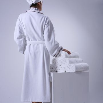 Eliya Custom Logo White Soft Women Hotel Waffle Weave Cotton Bathrobe - Buy Waffle Cotton Bathrobe